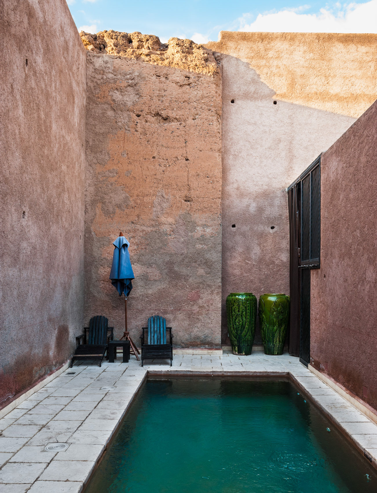 130122-364 Pool in courtyard, Marrakech