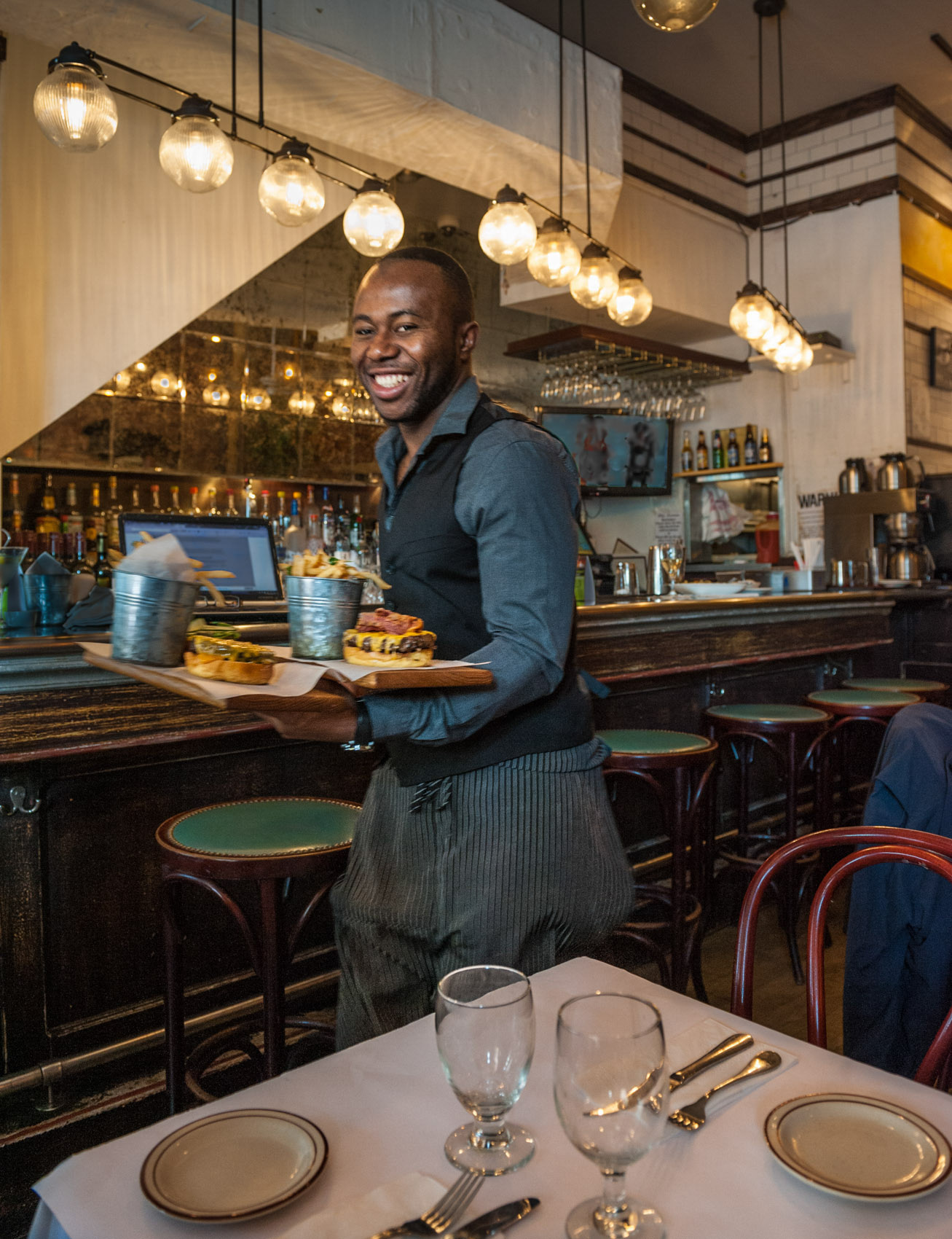 O18-320 waiter at Chez Lucienne