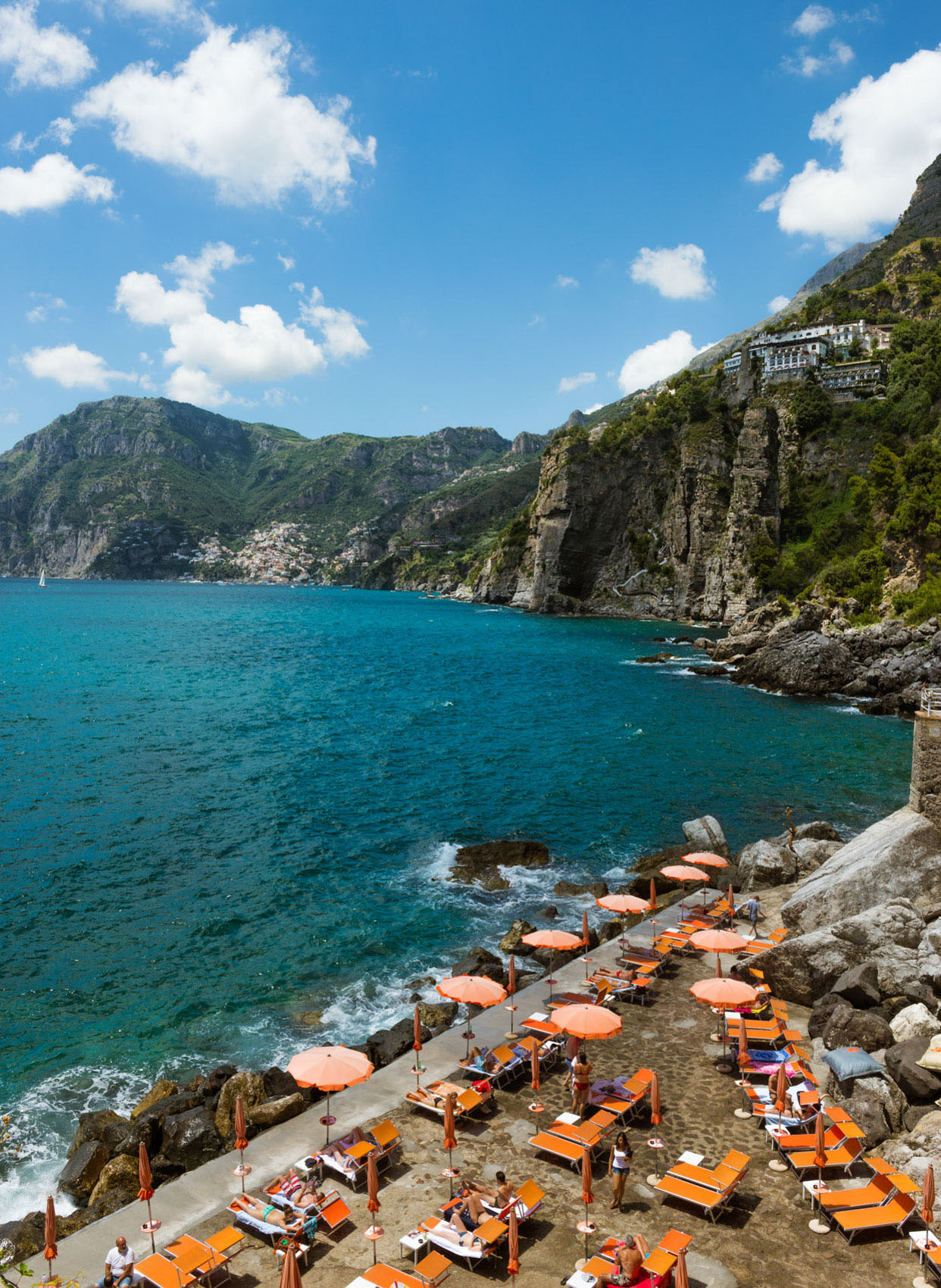 O18-620 beach club, Praiano, Amalfi Coast
